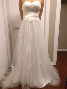 Custom made size 4 wedding dress