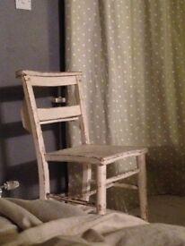 Shabby chic church chair