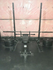 Olympic Weight Set, With Rack and Bench