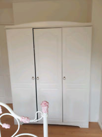 White 3 door wardrobe Laura Ashley Next