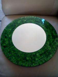 Green decorative mirror