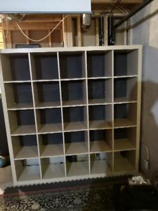 Ikea shelf unit. 25 cubes