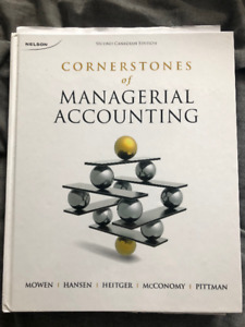 Cornerstone of Managerial Accounting 2nd Edition - Uni Textbook