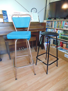 Bar stools-- 28 inch and 27 inch $15 each