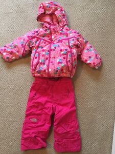 North Face girls size 2 ski suit.