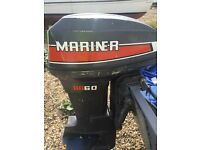 Mariner 60hp outboard runs but needs attention ,so selling as spares or repair