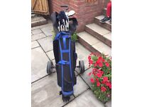 Pro drive bag and trolley. Plus 18 clubs