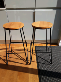 Two bench stools