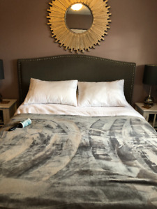 Queen size upholstered headboard for sale