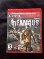 InFamous Game Sony Playstation 3 with case and manual PS3
