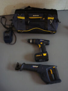 Mastercraft Source One 18V Rechargeable Drill & Jigsaw Pkg.