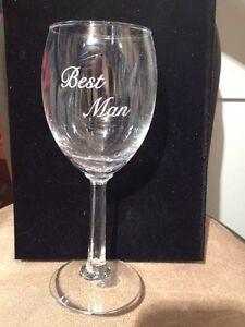 Best Man wine glass wedding