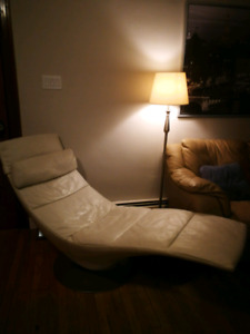 Modern leather chair - $200