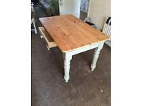 Old farmhouse pine table
