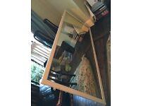 Antique solid oak mirror