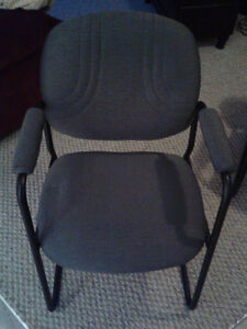 Padded Grey Chair in Excellent Condition (Near Westmount) Edmonton Edmonton Area image 1