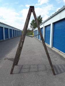 antique 8 foot wooden ladder - great for decor