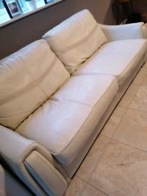 Sisi Italia 4 seater leather/fabric sofa