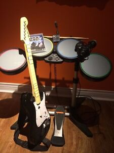 Rockband PS3 game and instruments