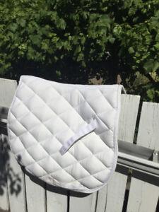 White english saddle pad