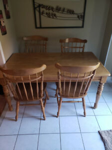 Family sized kitchen table and chairs
