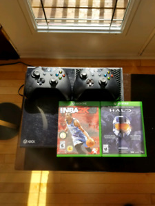 Xbox One with 2 Controllers (one custom worth $150) + 12 games
