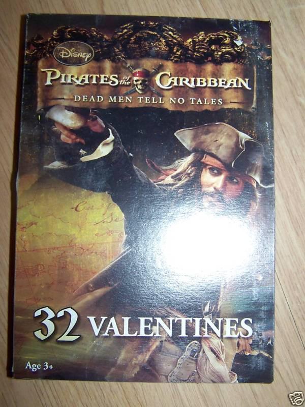 Box of 32 Disney Pirates of the Caribbean POTC Jack Valentine