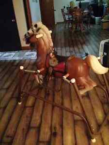 Large spring horse ride on toy