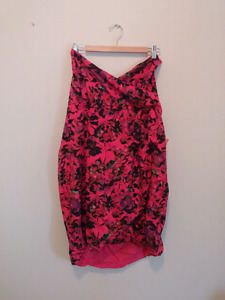 Pink floral size 22 strapless dress
