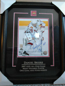 "HAND SIGNED-8""X10"" DANIEL BRIERE WITH COA"