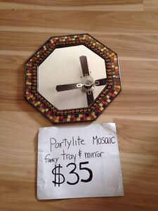 PARTYLITE MOSAIC MIRROR/TRAY. Or hurricane candle holder  Kingston Kingston Area image 1