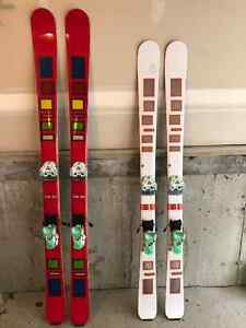 "Scott ""THE SKI"", 165 and 185 with binding. Nearly new"