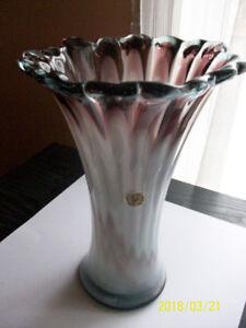 Grand et joli vase en verre soufflé de Mexico, 1970, vintage