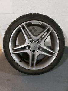 MERCEDES AMG RIMS AND SNOW TIRES