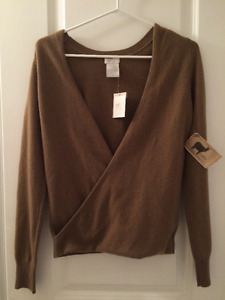 Oats 100% Cashmere Sweater, Tag Still Attached, Size Small
