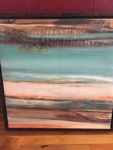 Turquoise and Brown Canvas picture