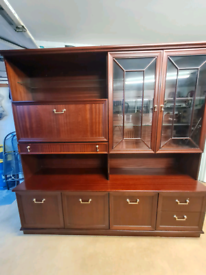 Mahogany unit for sale with integrated lights