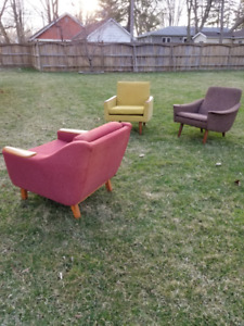 Vintage Mid-Century Lounge Chairs