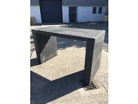 Black Rattan bar table