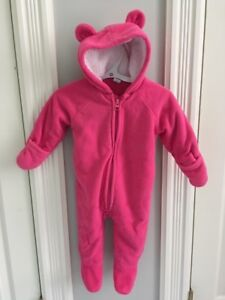Old Navy Pink 6-12 month fleece one-piece