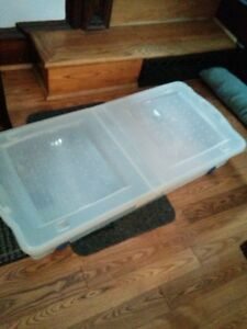 Storage container/ under bed with wheels by Rubbermaid