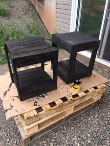 Rustic end tables $125