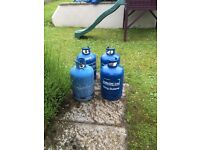 4 X empty 15kg gas cylinders
