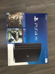 Playstation 4 Pro with Games.