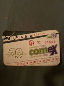 Comex punch card