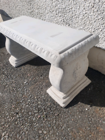 Concrete Plain Garden Bench