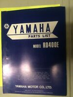 1978 Yamaha RD400E Parts List