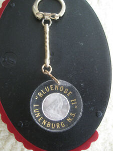 VINTAGE BLUENOSE ll's COLLECTIBLE [1966 DIME] KEY RING
