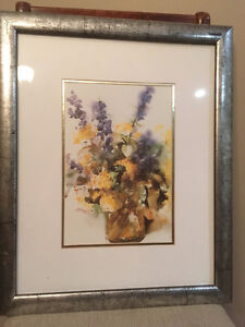 Framed floral watercolour