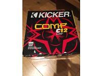 Kicker competition 12 inch sub + box